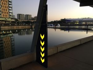 illuminated aluminium fin darwin waterfront