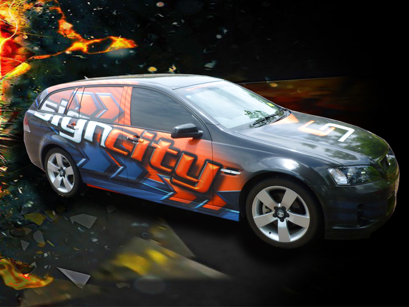Signcity vehicle wrap holden wagon