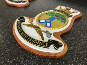 HMAS LAUNCESTON_SHIP CREST REFURBISHMENT
