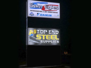 SAM EYLES TOP END STEEL ILLUMINATED LED PYLON