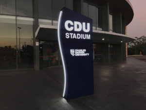 charles darwin university_netball stadium illuminated plinth