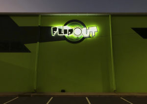 flipout_illuminated 3d logo