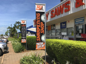Territory Saws and Hardware_PVC banners on poles